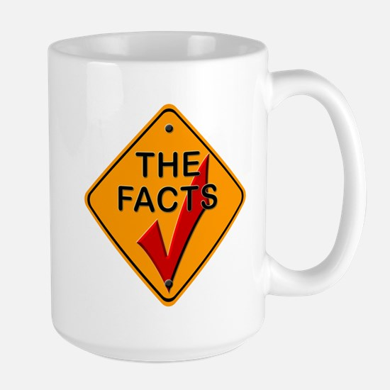 Check The Facts Gear Large Mug