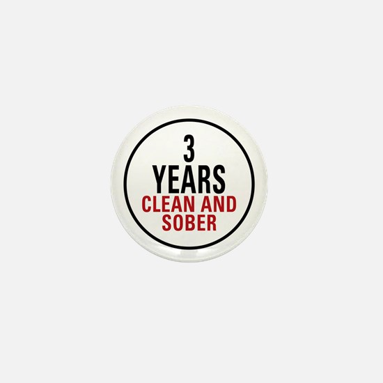 3 Years Clean & Sober Mini Button