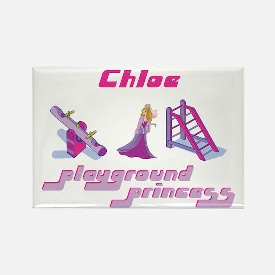 Chloe - Playground Princess Rectangle Magnet
