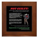 Article 6 - NOT GUILTY Framed Tile