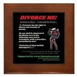Article 5 Divorce Me Framed Tile