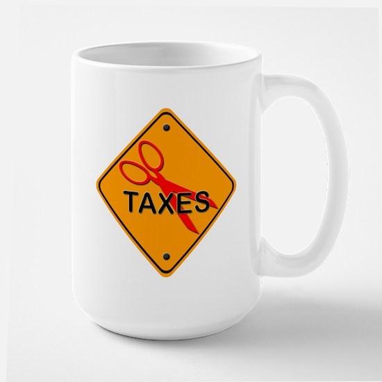 Cut Taxes Gear Large Mug
