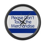Don't Touch Merchandise Large Wall Clock