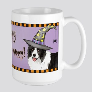 Halloween Border Collie Large Mug