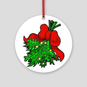 Mistletoe Ornament (Round)