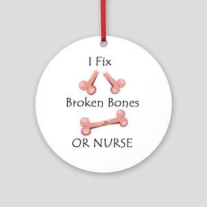 Broken bone RN Ornament (Round)