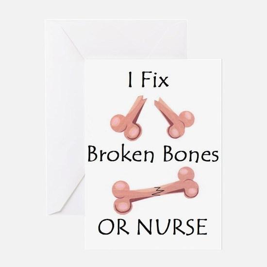 Broken bone RN Greeting Card
