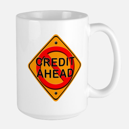 No Credit Ahead Gear Large Mug