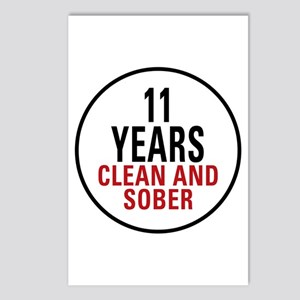 11 Years Clean & Sober Postcards (Package of 8)