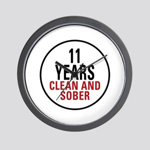 11 Years Clean & Sober Wall Clock