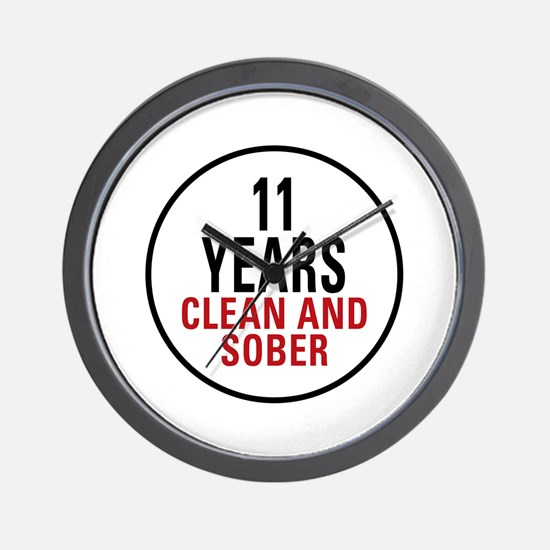 11 Years Clean & Sober Wall Clock