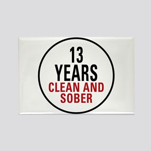 13 Years Clean & Sober Rectangle Magnet