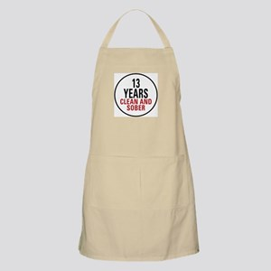 13 Years Clean & Sober BBQ Apron