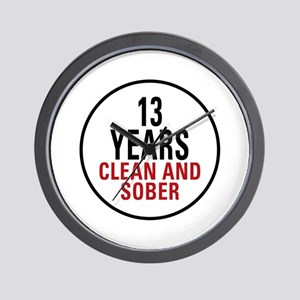 13 Years Clean & Sober Wall Clock