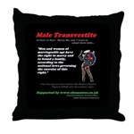 Article 12 Male transvestite Throw Pillow