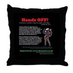 Protocol 1 Article 1 Hands OFF! Throw Pillow