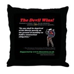 Protocol 4, Article ` The Devil Wins Throw Pillow