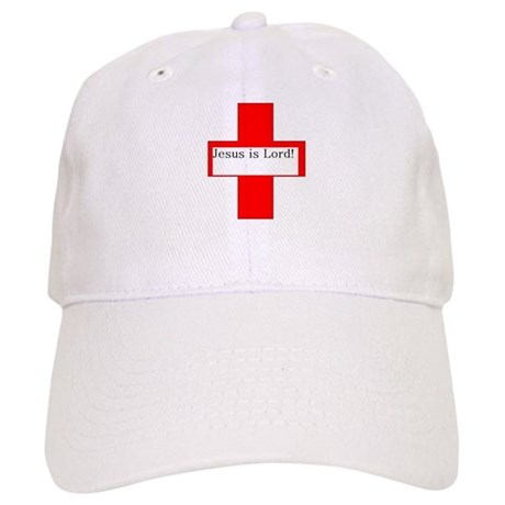 Red Cross, Black Letters with Cap