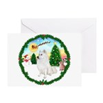 Take Off - American Eskimo Dog Greeting Card