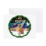 XmasSunrise/Vizsla Greeting Cards (Pk of 20)