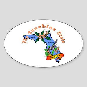 """Florida Pride"" Oval Sticker"