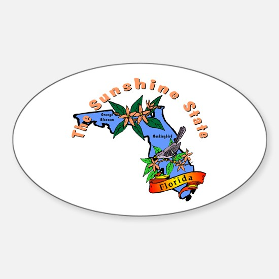 """""""Florida Pride"""" Oval Decal"""