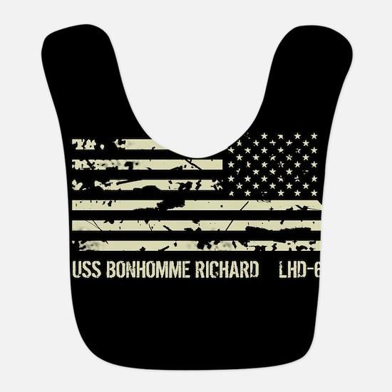 USS Bonhomme Richard Polyester Baby Bib