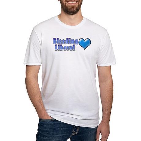 Bleeding Heart Liberal 2 Fitted T-Shirt