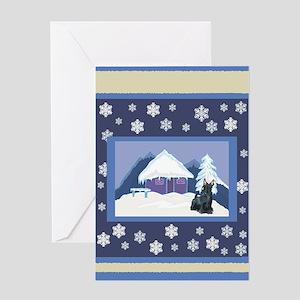 Snowflake Scottie Greeting Card