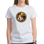Santa's American Eskimo #5 Women's T-Shirt