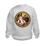Santa's American Eskimo #5 Kids Sweatshirt