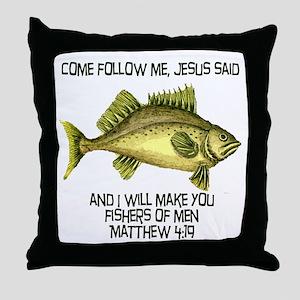 Matthew 4:19 English Throw Pillow