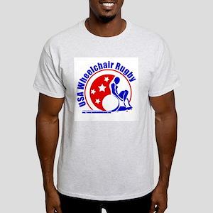 USA Rugby Circle Ash Grey T-Shirt
