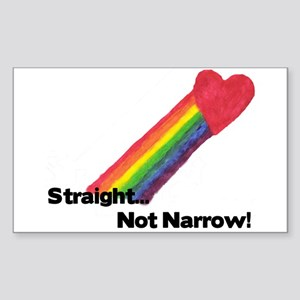"""Straight Not Narrow"" Rectangle Sticker"
