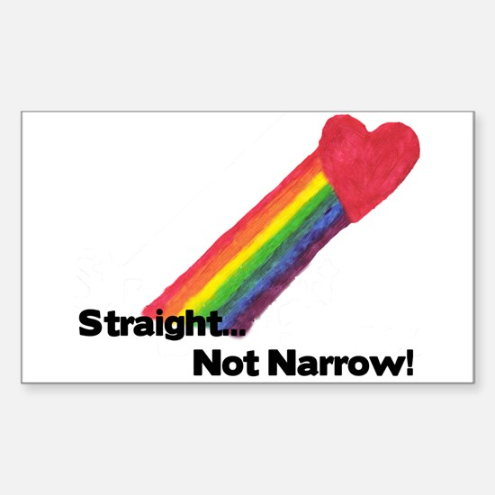 """""""Straight Not Narrow"""" Rectangle Decal"""