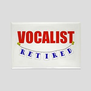 Retired Vocalist Rectangle Magnet