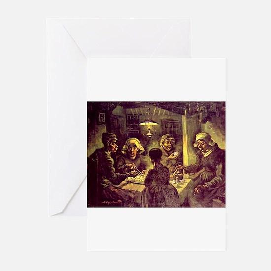 Van Gogh Potato Eaters Greeting Cards (Pk of 10)