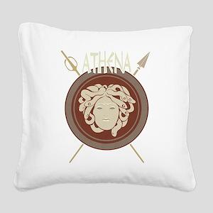 Athena Square Canvas Pillow