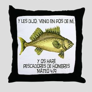 Matthew 4:19 Spanish Throw Pillow