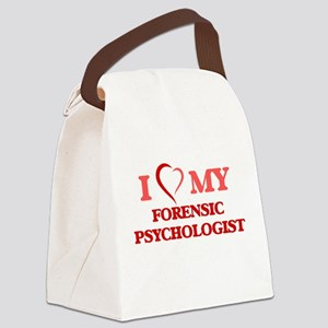 I love my Forensic Psychologist Canvas Lunch Bag