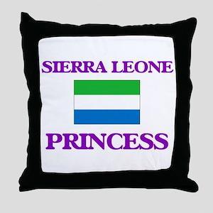 Sierra Leonean Princess Throw Pillow
