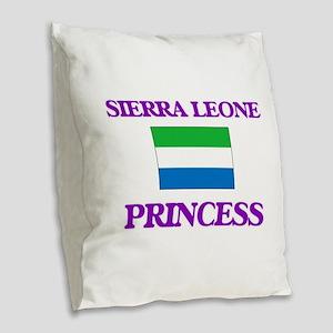 Sierra Leonean Princess Burlap Throw Pillow