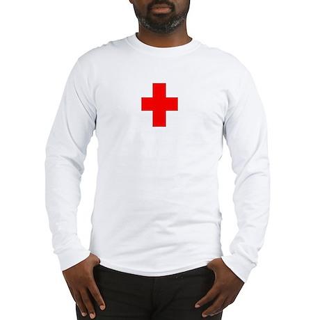Blank Red Cross 2 Long Sleeve T-Shirt