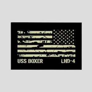 USS Boxer Rectangle Magnet