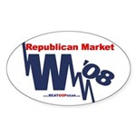 """Republican Market"" Oval Sticker"