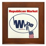 """Republican Market"" Framed Tile"