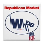 """Republican Market"" Tile Coaster"