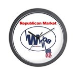 """Republican Market"" Wall Clock"