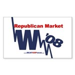 """Republican Market"" Rect Sticker (50)"