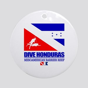 Dive Honduras Round Ornament